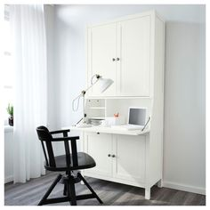 IKEA HEMNES Bureau with add-on-unit Light brown 89x197 cm Built-in cable management for collecting cables and cords; out of sight but close at hand.