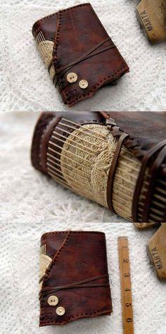 Memoirs Embossed Reclaimed Leather Journal