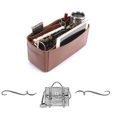 1210e18203 Alexa Oversized Deluxe Leather Handbag Organizer