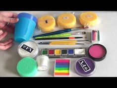 ▶ Great face painting supplies and product infos for beginners - YouTube #facepainttutorial #GlitterFace
