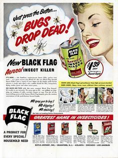 Black Flag Insect Killer advertisement from the June 19, 1950 issue of Life magazine.