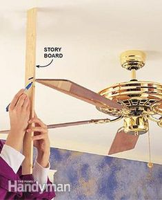 Troubleshoot and repair a wobbly ceiling fan: