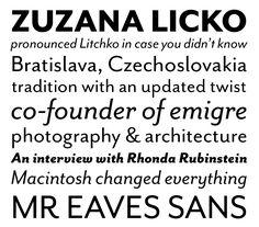 new font releases: mr eaves sans & modern