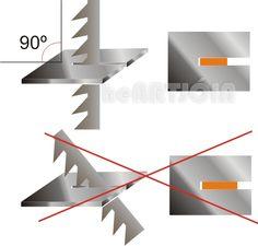 Serrar com serra de ourives perpendicular