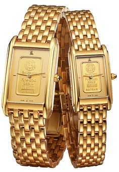 The GOLD INGOT LADIES by Charmex of Switzerland™; luxury Swiss Made wrist watches on the official Charmex of Switzerland™ website Ladies Model, Gold Watch, Switzerland, Champagne, Clock, Touch, Watches, Sport, Lady