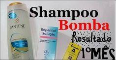 Receita do Shampoo Bomba com Monovin A e Bepantol,resultado em 1º mes