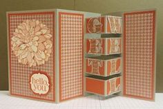 Splitcoaststampers - Tutorial.  I think I will leave one panel with a light color to write a note to the recipient .  Cute.