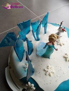 Gâteau Reine des Neiges (recette du caramel bleu)