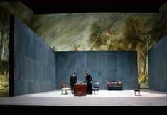 Scene from Ivanov, directed by Alain Françon - Theatre Set Design Theatre, Stage Design, Conception Scénique, Contemporary Theatre, Theatrical Scenery, Stage Set, Scenic Design, Wall Design, Lighting Design