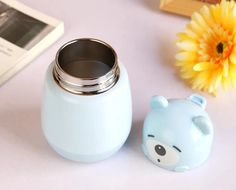 Don't get fooled by the cute looks. this Bear looking thermos will keep your coffee, tea or water hot or cold for 6 to 12 hours straight. Cat Coffee Mug, Kawaii Stuff, Cute Stationery, Pink Cat, Cute Bears, Stainless Steel Bottle, Decorated Water Bottles, Kitchen Items, Ceramic Mugs