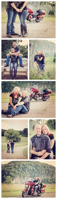 33 ideas for motorcycle photoshoot ideas 33 ideas para fotos de motos Motorcycle Couple, Motorcycle Wedding, Motorcycle Quotes, Engagement Couple, Engagement Pictures, Engagement Session, Themes Photo, Photo Ideas, Motorcycle Photography
