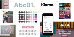 Brand New: New Logo and Identity for Klarna by DDB Stockholm Visual Identity, Brand Identity, Color Schemes Design, Brand Power, Poster S, Brand Guidelines, Inspiration Boards, Brand Inspiration, Brand Packaging