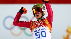 Kamil Stoch: b. Stoch is a ski-jumper from Poland. He won 2 gold medals in Sochi: one for Men's Normal Hill Individual and one for Men's Large Hill Individual. Mens Skis, Ski Jumping, Olympic Athletes, Winter Olympics, We The People, Ukraine, Poland, Skiing, Russia