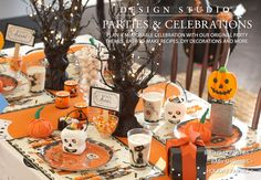 Halloween table setting...so cute!  Parties & Celebrations | Pottery Barn Kids