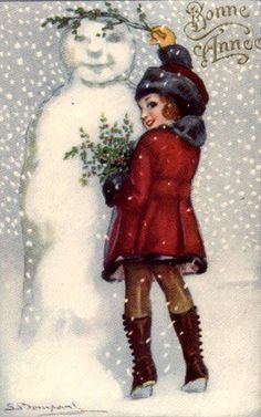 Vintage SnowMan - SnowMan - Vintages Cards - snow, man, snowman, vintage, xmas, christmas, holidays, free, clipart, Vintage Christmas Images, Old Fashioned Christmas, Christmas Past, Victorian Christmas, Vintage Holiday, Christmas Pictures, Christmas Greetings, Christmas Postcards, Mary Christmas