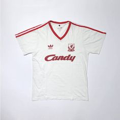 80s-90s ADIDAS Liverpool Candy Jersey Shirts   Vintage Adidas   Adidas  Shirt   Liverpool Jersey Shirt   Adidas Tees   Adidas Stipes 59a7048b5