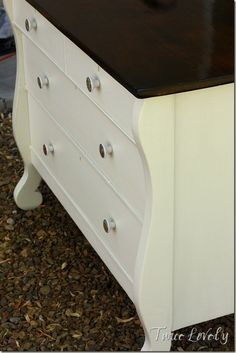 Dresser Turned Kitchen Island for My Sis from Twice Lovely