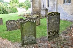 This is the Coln St Dennis headstones number 165, based right next to a church with other similar headstone markers around it