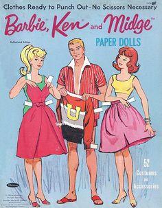 1963 Barbie, Ken and Midge Paper dolls! | Flickr - Photo Sharing!