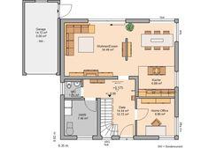 Kern-Haus Familienhaus Luna Plus Grundriss Erdgeschoss