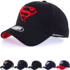 347d3e05200cd Unisex Mens WB DC Comics Superman S Logo Flexfit Baseball Cap Stretch Fit  Hats  hellobincom
