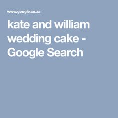 kate and william wedding cake - Google Search
