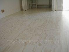 White lime wash 1 coat on new plywood - matt finish.