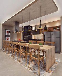 Modern Kitchen Cabinets, Smart Kitchen, Open Kitchen, Kitchen Dining, Kitchen Decor, French Kitchen, Home Repairs, Black Kitchens, Unique Furniture