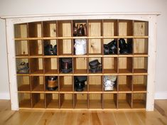 It is undoubtedly important for all of your shoes to be organized. Not only does keeping them in one central location keep your house or apartment clean and tidy, doing so will ensure you can find any pair you need at a moments notice. Everyone knows that shoe collections can easily get out of hand, especially if you have a large family. There are many shoe rack ideas available for you to select. Everything from do-it-yourself shoe racks to customized shoe cabinets. Whichever shoe storage ideas Build A Shoe Rack, Shoe Rack Plans, Wood Shoe Rack, Diy Shoe Rack, Shoe Racks, Shoe Rack Organization, Shoe Storage Cabinet, Shoe Organizer, Storage Bins