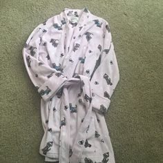 Pink robe with dogs on it. Size S. Cute & comfy pink robe with dogs on it. Macys Intimates & Sleepwear Robes