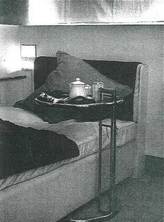 Bed with Eileen Gray Adjustable table c.1926