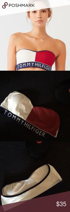 4cad6d3da34 TOMMY HILFIGER URBAN OUTFITTERS LG STRAPLESS BRA Padded stretch try to size  new Tommy Hilfiger Intimates   Sleepwear Bandeaus