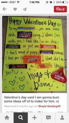 DIY Valentines Day Gifts! This is cute but I will have to wait because I did this for our anniversary