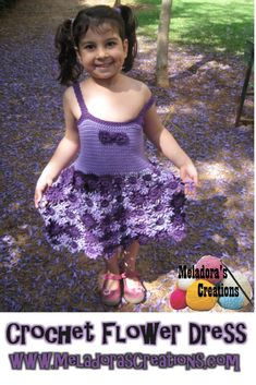 Your place to learn how to Crochet the Crochet Flower Dress for FREE. by Meladora's Creations - Free Crochet Patterns and Video Tutorials