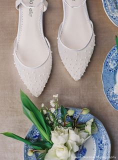 Carina Pleated Tulle and Pearl Ivory Wedding Flats Lace Wedding Flats, Ivory Wedding, Wedding Bride, Periwinkle Wedding, Wedding Makeup, Bride Groom, Wedding Favors, Rustic Wedding, Wedding Dresses