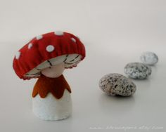 Mushroom Doll / Felt Plushie / Musca by shroompers on Etsy, $25.00