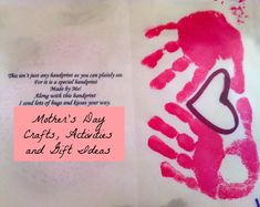 Mother's Day crafts, activities and gift ideas!