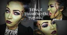 Think I figured out what I'm doing for when all of the trick or treaters come to the door tomorrow: Female Frankenstein Halloween Tutorial