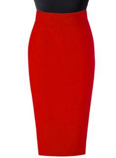 fd76519d35 Red Linen High waist pencil skirt   Elizabeth's Custom Skirts Green Pencil  Skirts, High Waisted