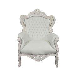 Fauteuil baroque blanc - 366.22Euros - livraison sous 6 jours