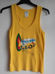 Hand painted t-shirt, 100% cotton