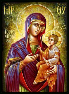 Theotokos Religious Images, Religious Icons, Religious Art, Byzantine Icons, Byzantine Art, Writing Icon, Russian Icons, Religious Paintings, Jesus Pictures