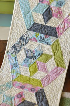 Happy Dance table runner by Heather Mulder Peterson | Anka's Treasures