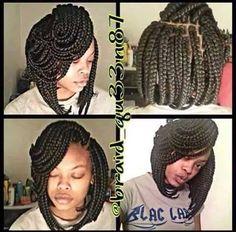 Jumbo braids flip Bob