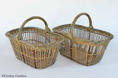 Recent Willow Baskets by Katherine Lewis - Dunbar Gardens Newspaper Basket, Market Baskets, Basket Weaving, Anniversary Gifts, Bamboo, Gardening, French, Craft, Hampers
