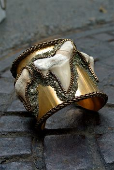 gold and horned bangle