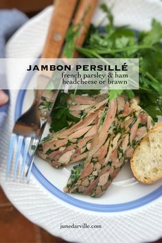 Ever made headcheese from scratch? Here's a French classic: jambon persillé or parsley ham headcheese aka brawn!