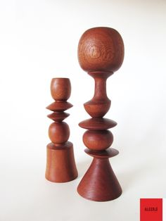 Mahogany candle holder  2 pieces in a set...  We are inspired by nature for home decoration.  Products that are formed softly and proper for your furniture...