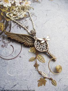 Follow the Firefly.  i am loving key jewelry
