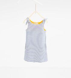 ZARA - KINDEREN - Gestreepte jurk